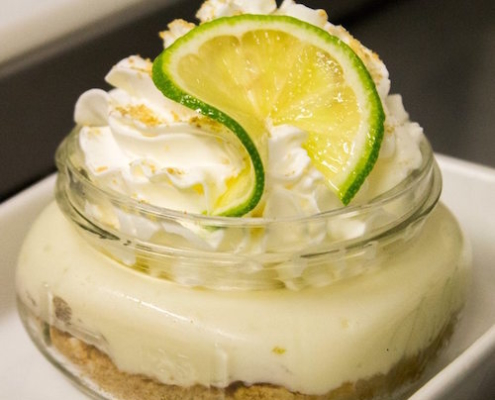 mason jar key lime pie from Finns restaurant