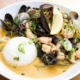 thai coconut curry mussels at finns seafood restaurant victoria bc