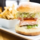 wild salmon filet burger at finns seafood restaurant